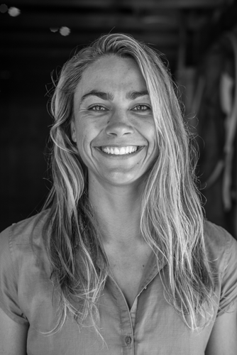 Portrait of Léa Brassy, French Surfer and Waterwoman